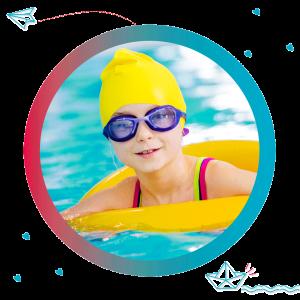 Jardin infantil con natación
